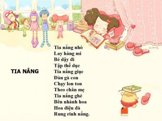 55+ Bài thơ 3 chữ cho bé hay, dễ thương, dễ đọc, dễ nhớ